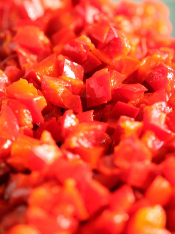 Paprika geschnitten