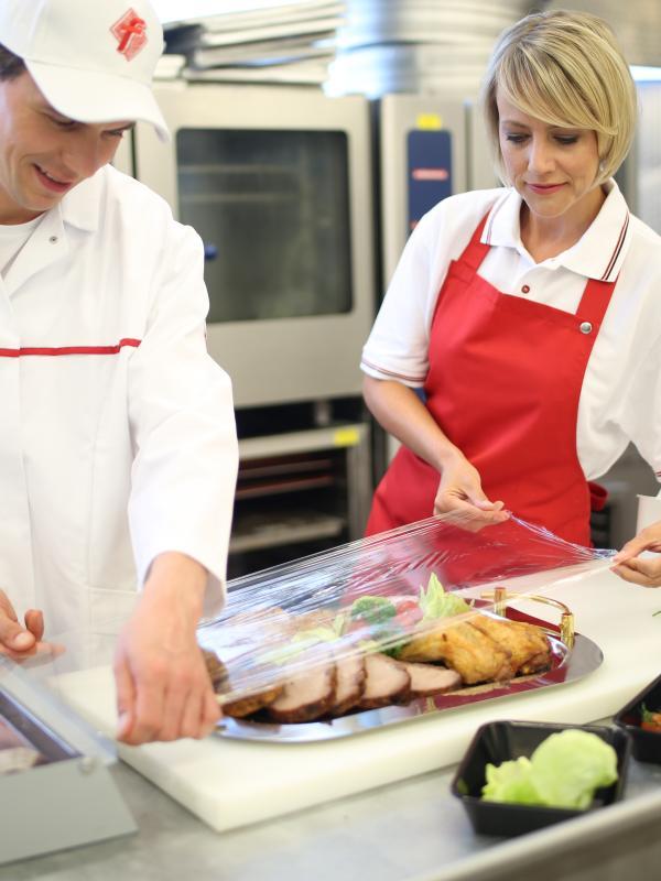 Vorbereitung der Fleischplatte